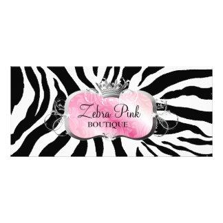 Zebra cor-de-rosa pródiga da bandeja 311 10.16 x 22.86cm panfleto