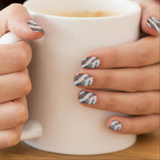 Zebra do Grunge Nail Wraps