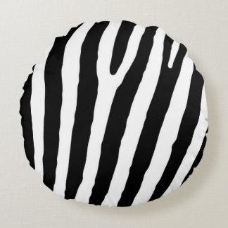 Zebra-marcações Almofada Redonda