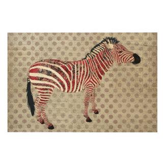 Zebra Polkadot Wooden Canvas Wood Canvas