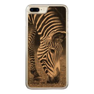 Zebra que come a grama capa para iPhone 7 plus carved