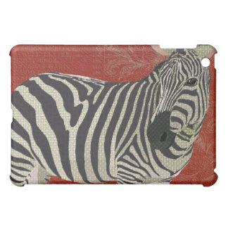Zebra retro vermelha capa iPad mini