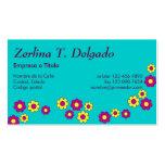 Zerlina de Flores Rosa Cartão De Visita