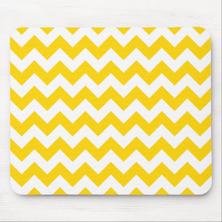 Ziguezague amarelo de Chevron do Freesia Mouse Pad