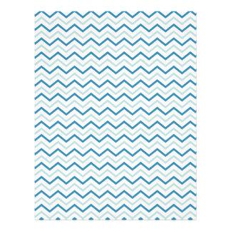 Ziguezague azul de Chevron da cerceta original Panfletos Personalizado