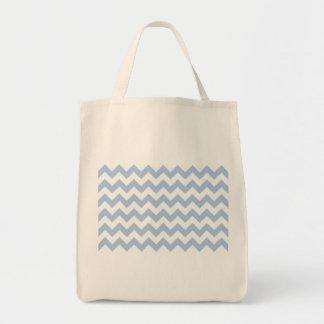 Ziguezague azul e branco da luz - bolsa tote