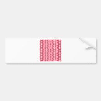 Ziguezague - branco e carmesins adesivo para carro