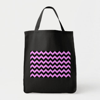 Ziguezague cor-de-rosa e preto bolsa tote