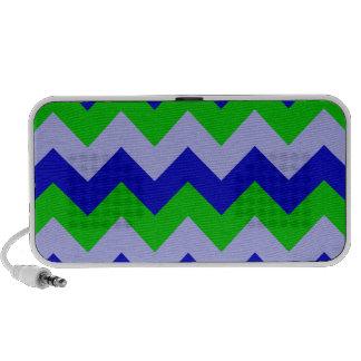 Ziguezague eu - Azul, luz - violeta, verde Caixinhas De Som Para Mp3