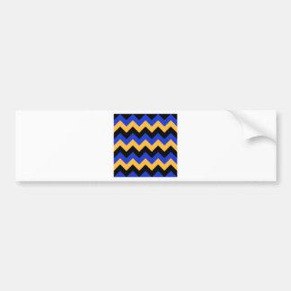 Ziguezague eu - Preto, laranja e azul Adesivo Para Carro