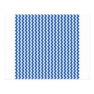 Ziguezague largamente - branco e cobalto cartão postal