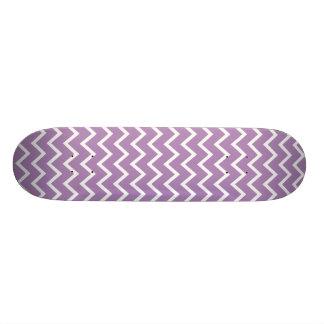 Ziguezague roxo Chevron da violeta africana Shape De Skate 20,6cm