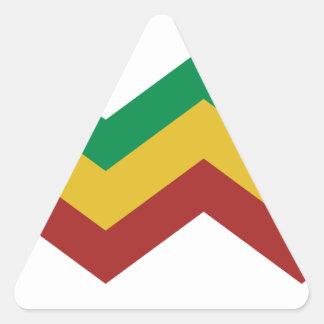 Zigzags de Rasta Adesivo Em Forma De Triângulo