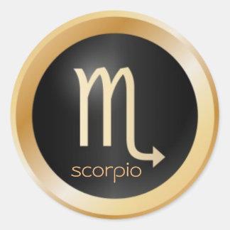 zodíaco da etiqueta do scorpio adesivo