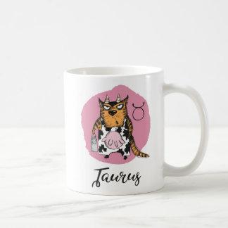 Zodíaco do gato, caneca w/Quote do Taurus
