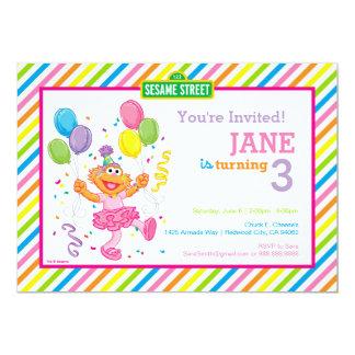 Zoe listrou o aniversário convite 12.7 x 17.78cm