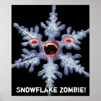 Zombi do floco de neve! Poster Pôster