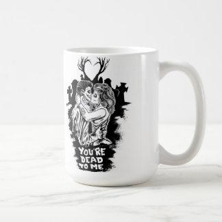 zombie love caneca de café