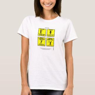 """Zombis """"os caricaturas da """"do T woking senhora"""" do Camiseta"""