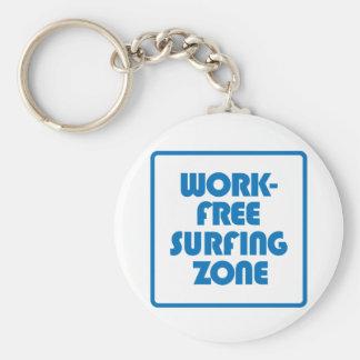 Zona surfando livre do trabalho chaveiro
