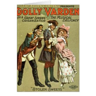 Zorra Varden a guloseima musical 1906 Cartão Comemorativo