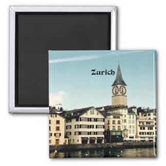 Zurique, suiça ímã quadrado