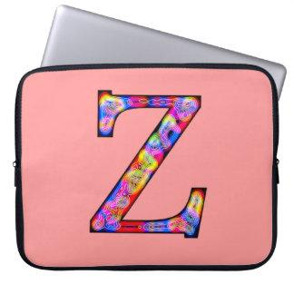 Zz iluminou o monograma capa de notebook