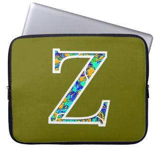 Zz iluminou o monograma capas para laptop